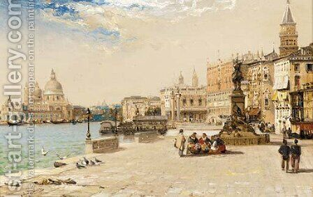 The Victor Emmanuelle statue, Venice by Arthur Joseph Meadows - Reproduction Oil Painting