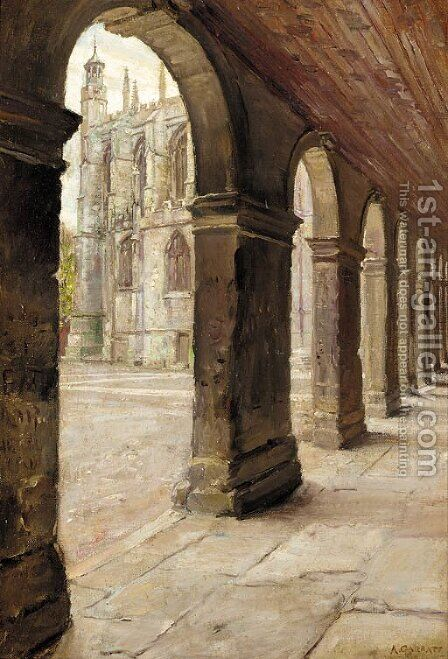The Cloister, Eton College by Arthur Paine Garratt - Reproduction Oil Painting