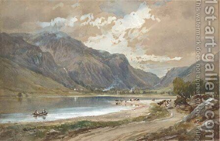View of Cader Idris by Arthur Perigal - Reproduction Oil Painting