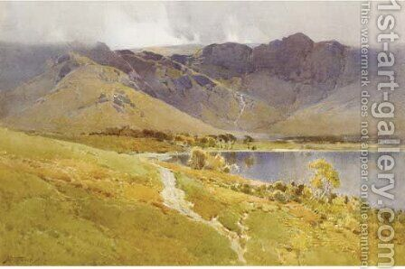 Buttermere, Cumberland by Arthur Tucker - Reproduction Oil Painting