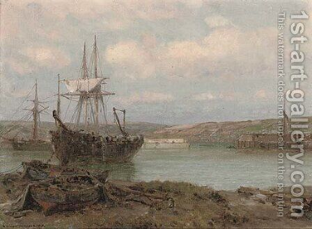 Refitting at Cormack harbour by Arthur Wilde Parsons - Reproduction Oil Painting