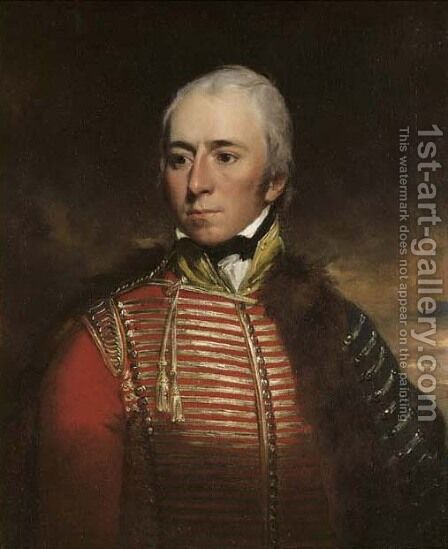 Portrait Of Captain Thomas David Lamb, M.P. (1775-1818), Of Mountsfield Lodge, Rye, Half-Length, In The Uniform Of The Cinque Ports Fencible Cavalry by Arthur William Devis - Reproduction Oil Painting