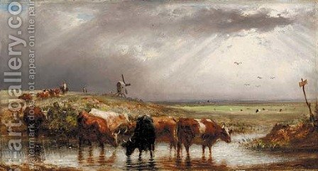 In the marshes by Aster R. C. Corbould - Reproduction Oil Painting