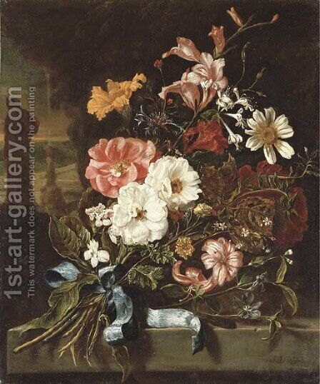 Carnations by (after) Jan Weenix - Reproduction Oil Painting