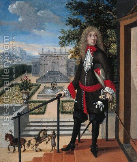 A nobleman by (after) Abraham Van Der Weerdt - Reproduction Oil Painting