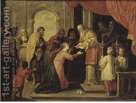 The Presentation of Christ in the Temple by (after) Abraham Willemsens - Reproduction Oil Painting