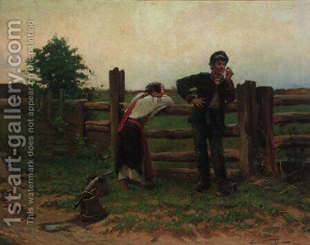 The Soldier's Disdain by (after) Aleksandr Vladimirovich Makovskii - Reproduction Oil Painting