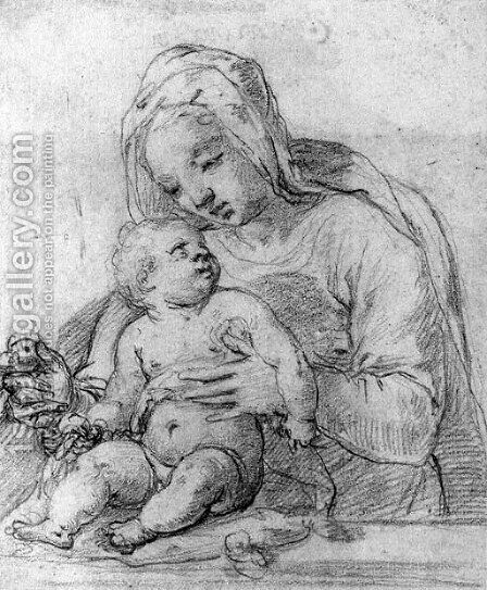 The Madonna and Child by (after) Alessandro Casolani - Reproduction Oil Painting