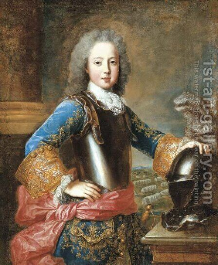 Portrait of a Nobleman by (after) Alexis-Simon Belle - Reproduction Oil Painting