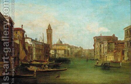 Gondolas on a Venetian Canal by (after) Alfred Pollentine - Reproduction Oil Painting