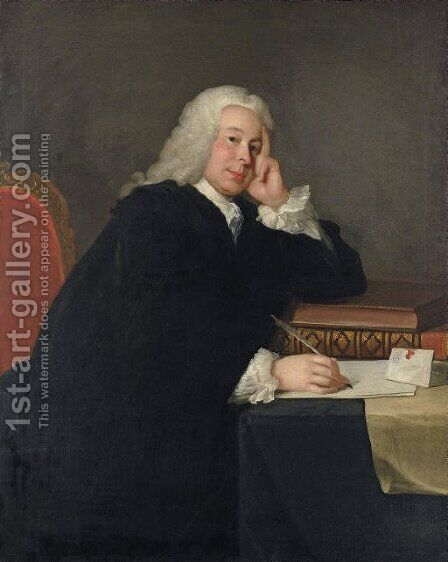 Portrait of Nicholas Hardinge, M.P. (1699-1758) by (after) Allan Ramsay - Reproduction Oil Painting