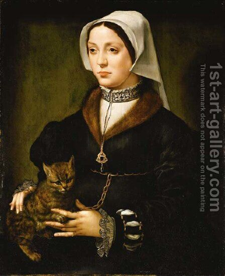 Portrait of a lady by (after) Ambrosius Benson - Reproduction Oil Painting