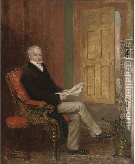 Portrait of a gentleman by (after) Andrew Geddes - Reproduction Oil Painting