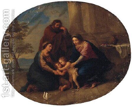 The Holy Family with Saint Elizabeth and the infant Saint John the Baptist by (after) Mengs, Anton Raphael - Reproduction Oil Painting