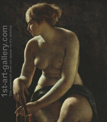 Sappho by (after) Baron Pierre-Narcisse Guerin - Reproduction Oil Painting