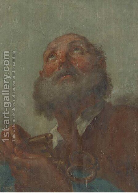 Saint Peter by (after) Benedetto Luti - Reproduction Oil Painting