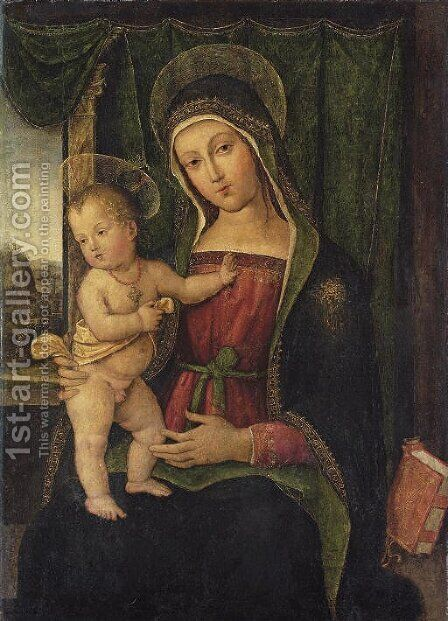 The Madonna and Child by (after) Bernardo Pintoricchio - Reproduction Oil Painting
