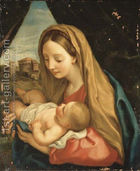 The Madonna and Child by (after) Carlo Maratta Or Maratti - Reproduction Oil Painting