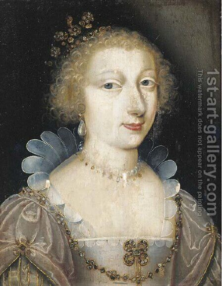 Portrait of a lady by (after) Charles Beaubrun - Reproduction Oil Painting