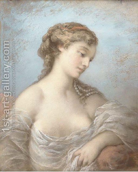 Portrait of an elegant beauty by (after) Charles Chaplin - Reproduction Oil Painting