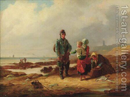 The Fisherman's Family by (after) Charles Waller Shayer - Reproduction Oil Painting