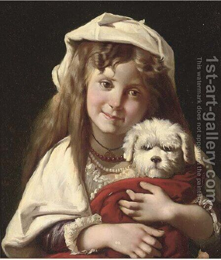 New friends by (after) Claude-Marie Dubufe - Reproduction Oil Painting