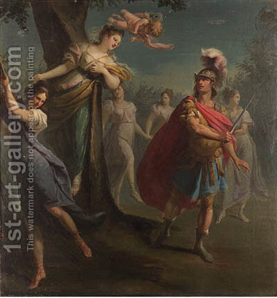 Armida enchanting Rinaldo; and The warriors in Armida's garden by (after) Claudio Francesco Beaumont - Reproduction Oil Painting