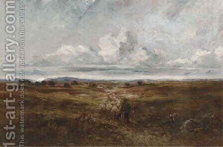 Driving the sheep by (after) David Cox - Reproduction Oil Painting