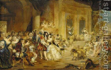 An Incident at the Opera by (after) Edward Matthew Hale - Reproduction Oil Painting