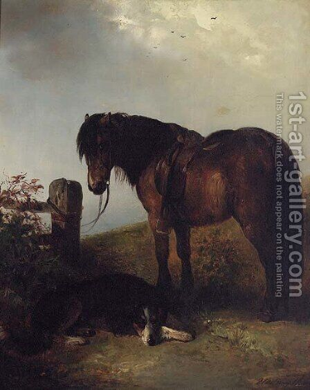 Loyal Companions by (after) Edward Robert Smythe - Reproduction Oil Painting