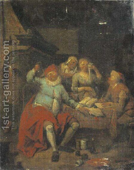 A doctor's surgery by (after) Egbert Jaspersz. Van, The Elder Heemskerck - Reproduction Oil Painting