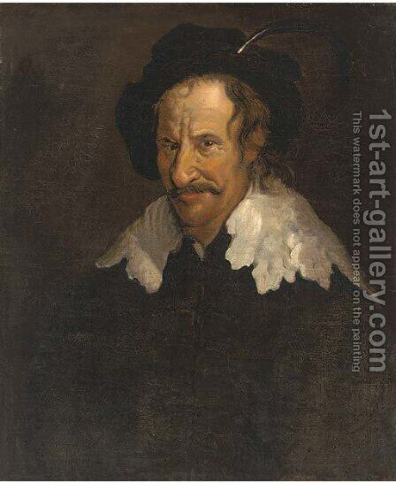 Portrait of a man in a plummed cap by (after) Egbert Jaspersz. Van, The Elder Heemskerck - Reproduction Oil Painting