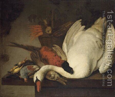 A dead swan by (after) Elias Vonck - Reproduction Oil Painting
