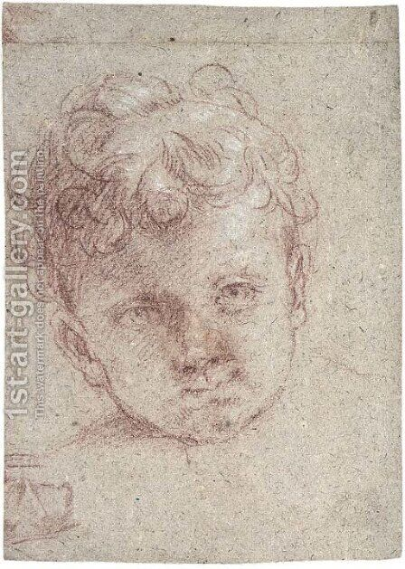 Head of a young child by (after) Elisabetta Sirani - Reproduction Oil Painting