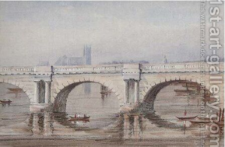 Old Waterloo Bridge by (after) Elizabeth Byam Martin - Reproduction Oil Painting