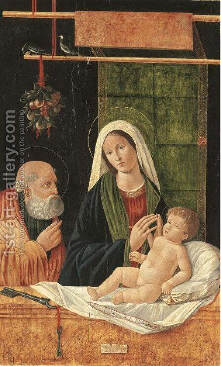 The Madonna and Child with Saint Peter by (after) Francesco Bissolo - Reproduction Oil Painting