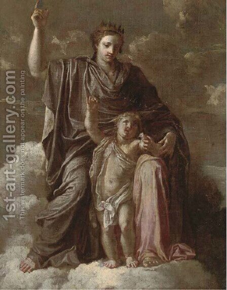 An allegorical depiction of the Madonna and Child by (after) Francesco Curradi - Reproduction Oil Painting