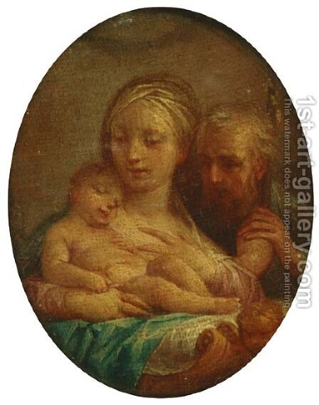 The Holy Family by (after) Francesco De Mura - Reproduction Oil Painting