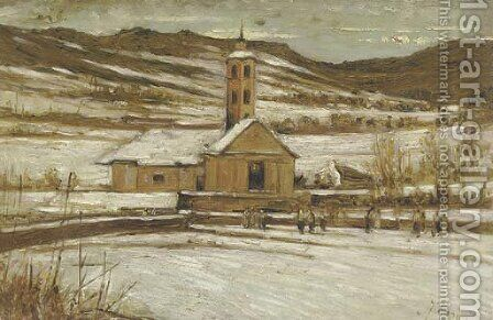 A walk to church by (after) Francesco Filippini - Reproduction Oil Painting