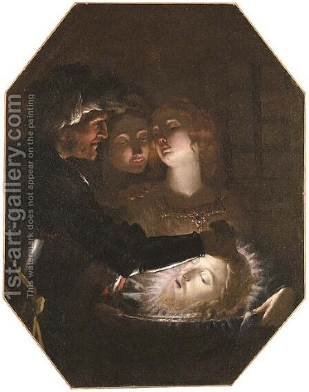 Salome with the head of Saint John the Baptist by (after) Francesco Rustici - Reproduction Oil Painting