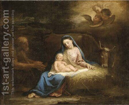 The Nativity by (after) Francesco Zuccarelli - Reproduction Oil Painting