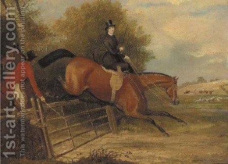 Over The Gate by (after) Francis Calcraft Turner - Reproduction Oil Painting