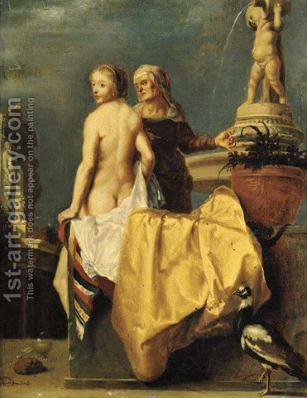Bathseba receiving David's letter by (after) Francois Verwilt - Reproduction Oil Painting