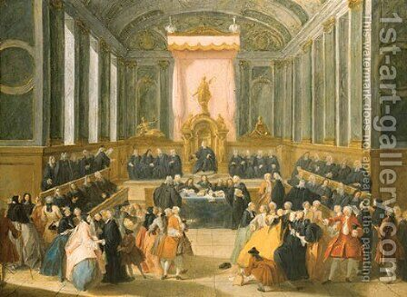 A Tribunal by (after) Franois Octavien - Reproduction Oil Painting
