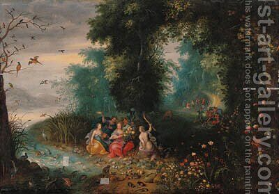 The Four Elements by (after) Frans II Francken - Reproduction Oil Painting