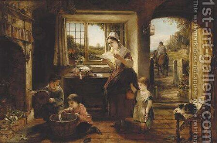 The first post by (after) Frederick Daniel Hardy - Reproduction Oil Painting