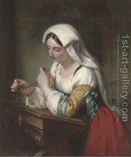 The rosary by (after) Rederick Richard Pickersgill - Reproduction Oil Painting