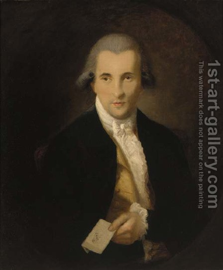 Portrait of a gentleman by (after) Dupont Gainsborough - Reproduction Oil Painting