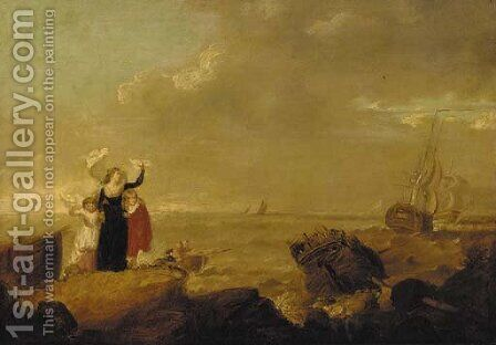 Adieu by (after) George Morland - Reproduction Oil Painting