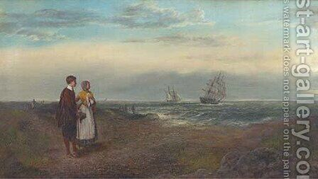 The poignant farewell by (after) George Sant - Reproduction Oil Painting